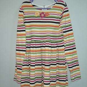 Gymboree Outlet Fall Harvest Striped Cotton Dress